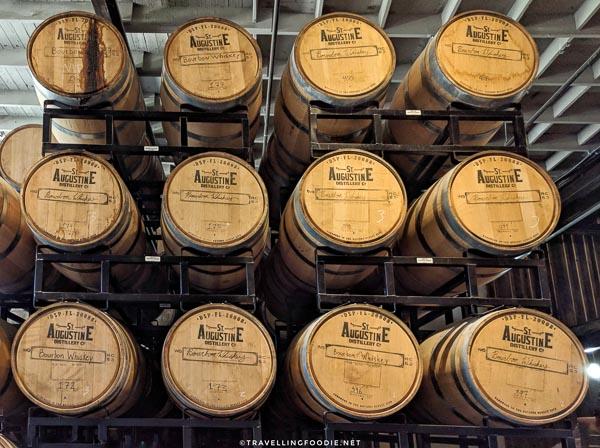 Bourbon Barrels at St. Augustine Distillery in St. Augustine, Florida