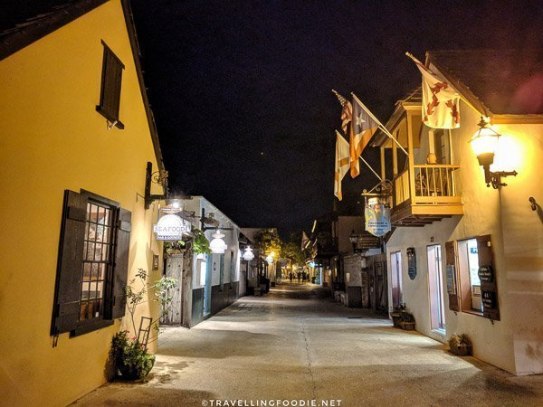 Nighttime in St. George Street, St. Augustine, Florida
