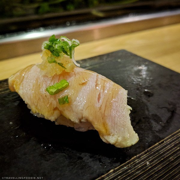 Albacore Tuna Belly Sushi at Sushi Kashiba in Seattle, Washington