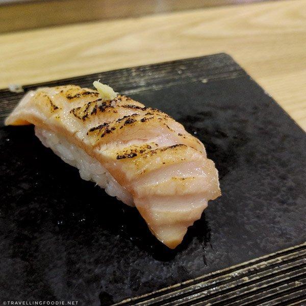 King Salmon Belly Sushi at Sushi Kashiba in Seattle, Washington