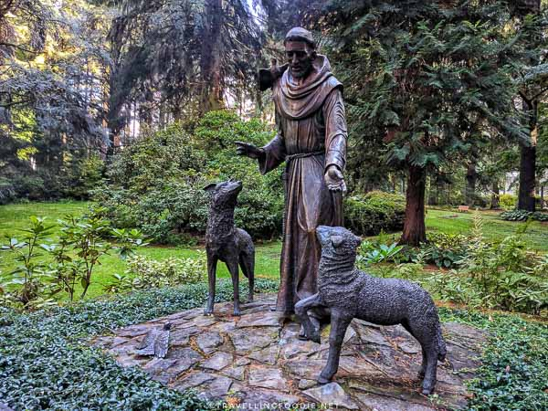 St. Francis of Assisi statue at The Grotto in Portland, Oregon