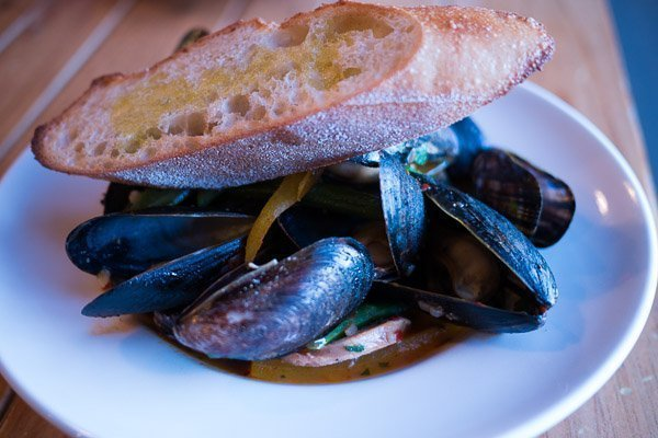 Mussels at Trattori Gusto in Port Hope, Ontario
