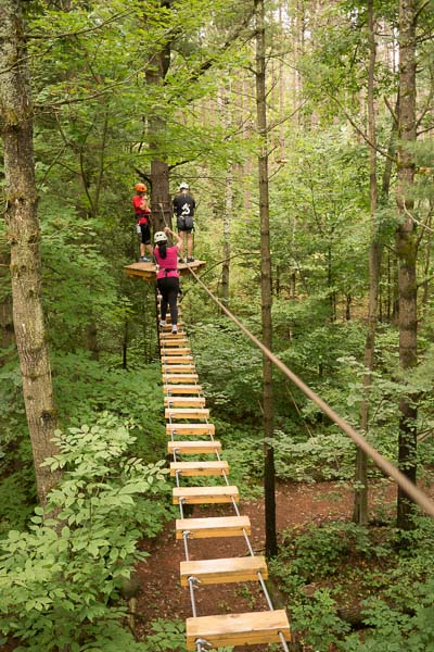 Bridge Obstacle in Ganaraska Treetop trekking in Port Hope, Ontario
