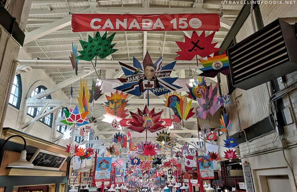 Canada 150 at Saint John City Market in New Brunswick