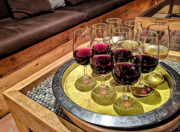 Red wines and white wine at Happinez Wine Bar in Saint John, New Brunswick