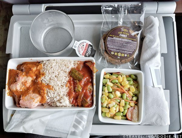 Chicken Tikka Masala at Via Rail Business Class for Day Trip from Toronto to Kingston, Ontario