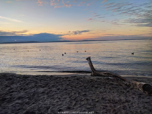 Sunset on Alki Beach in Seattle, Washington