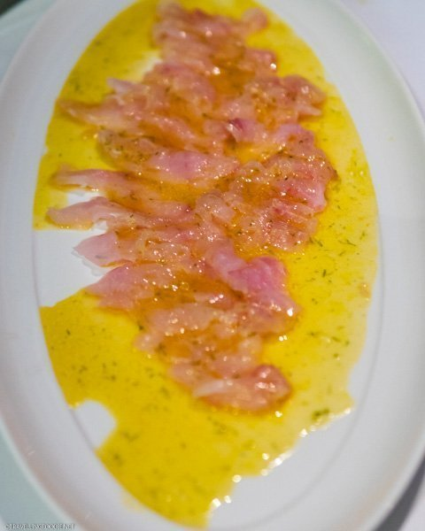Red snapper with olive oil at Ferreira Cafe in Montreal, Quebec