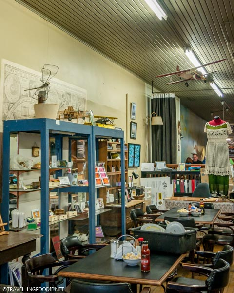 Antiques at Flyers Bakery and Cafe in Dunnville, Haldimand County, Ontario