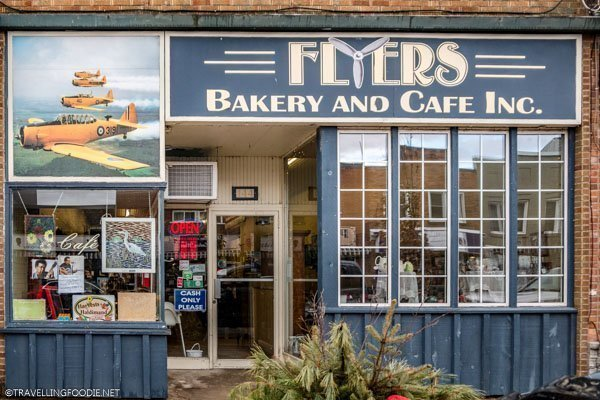 Flyers Bakery and Cafe storefront in Dunnville, Haldimand County, Ontario