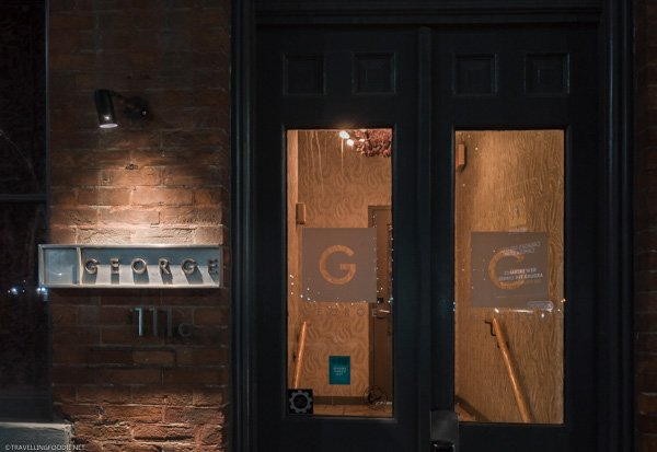 Entrance to George Restaurant in Toronto, Ontario