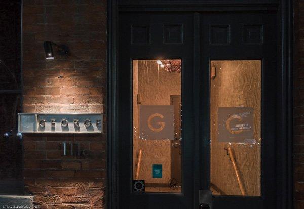 Entrance to George Restaurant in Toronto, Ontario
