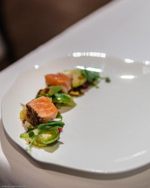 Salmon Tataki at George Restaurant in Toronto, Ontario