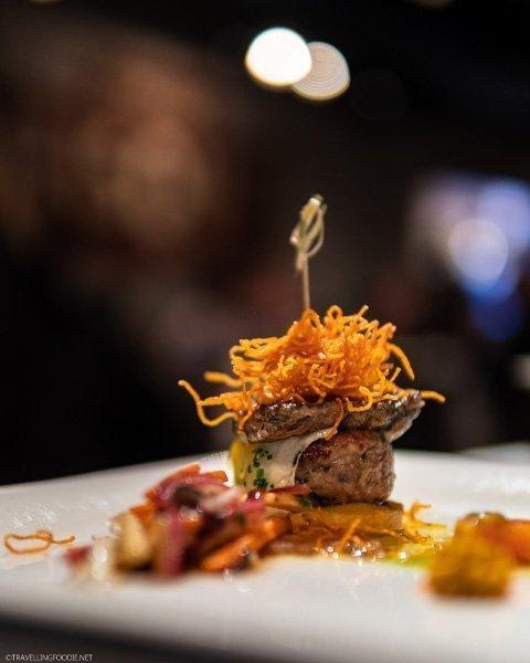 Foie Gras, Duck Confit, Quail Egg at George Restaurant in Toronto, Ontario