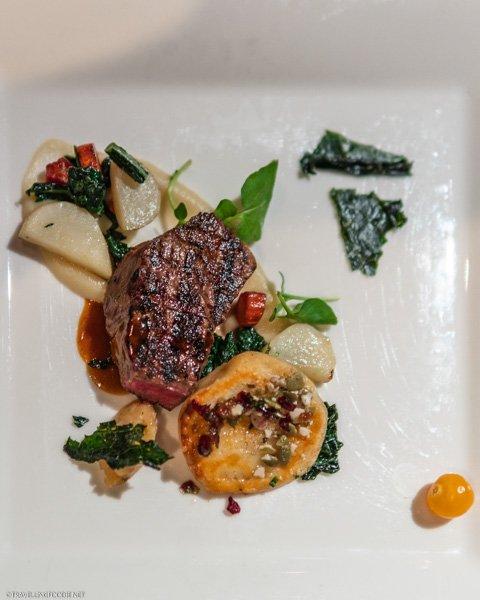 Beef Ribeye and Pierogi at George Restaurant in Toronto, Ontario