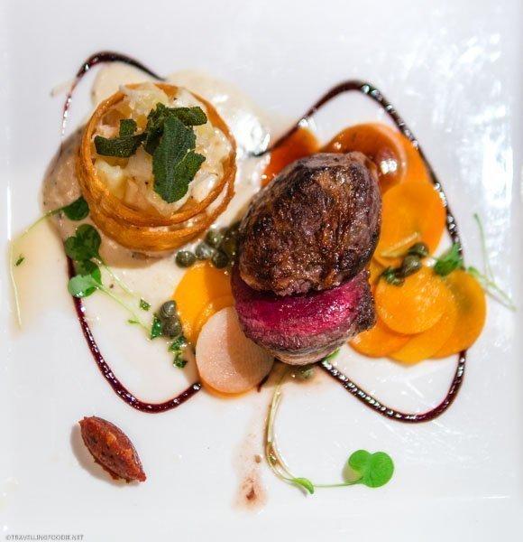 Venison with Potato Fondant at George Restaurant in Toronto, Ontario