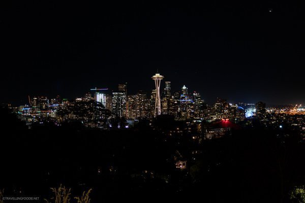 Nighttime Seattle Skyline at Kerry Park in Seattle, Washington