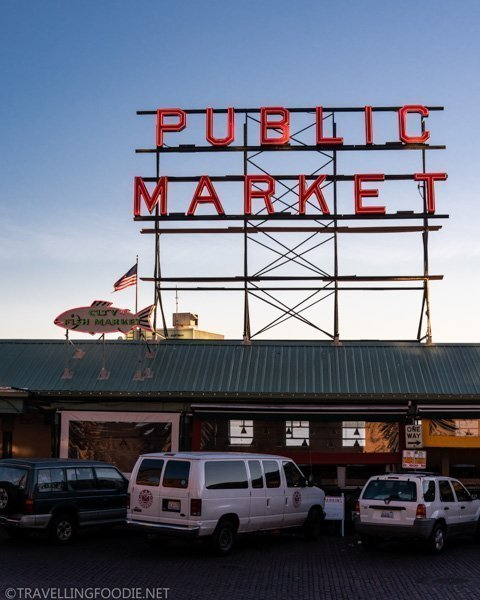 Public Market sign at Pike Place Market in Seattle, Washington