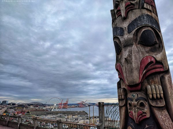 Totem Poles at Victor Steinbreuck Park at Pike Place Market in Seattle, Washington