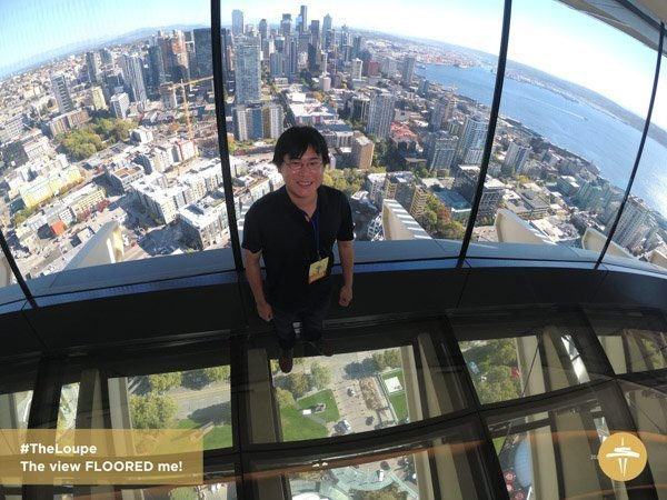 Travelling Foodie Raymond Cua at Space Needle's The Loupe in Seattle, Washington