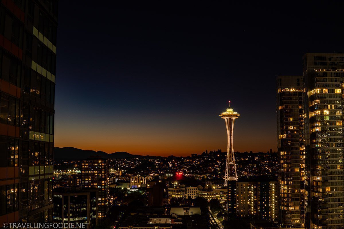 Space Needle Dusk Skyline in Seattle, Washington