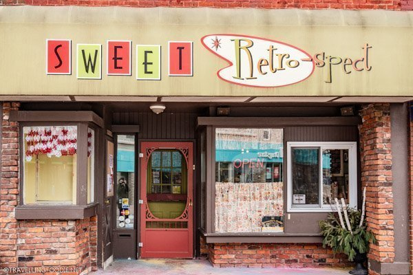 Sweet Retrospect storefront in Dunnville, Haldimand County, Ontario