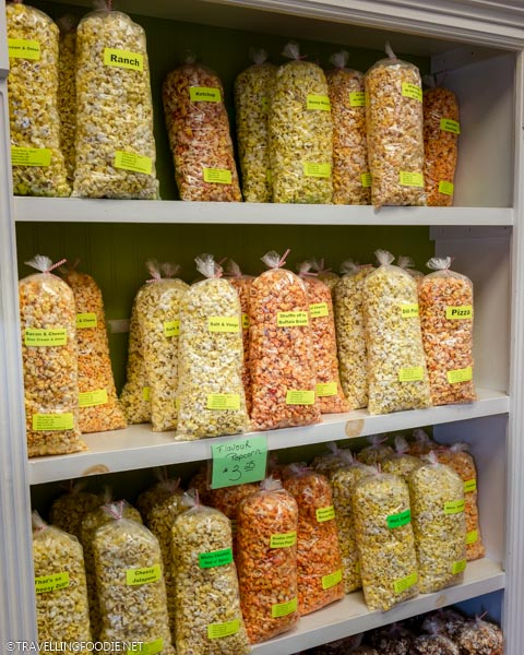 Popcorn at Sweet Retrospect in Dunnville, Haldimand County, Ontario