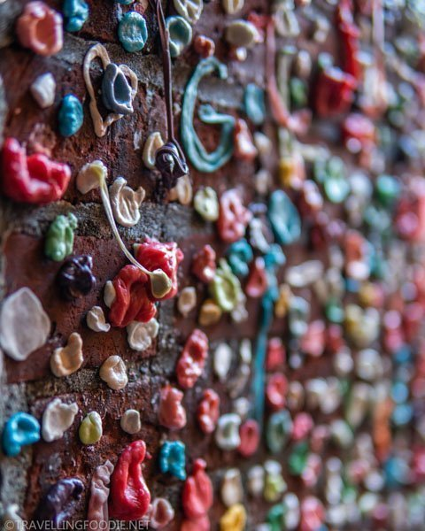 The Gum Wall at Pike Place Market in Seattle, Washington