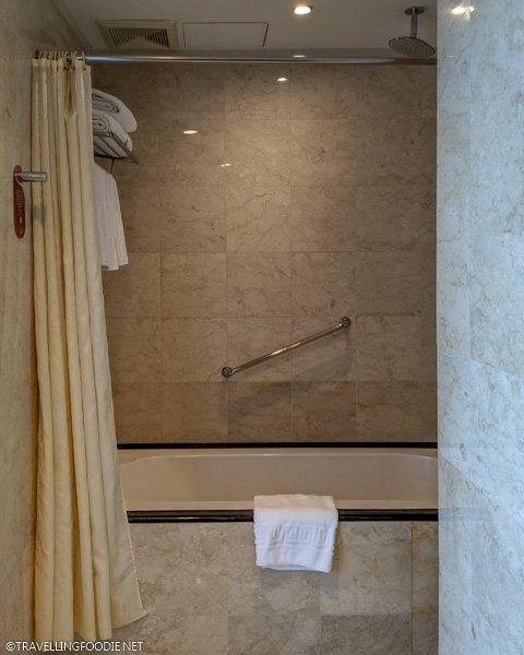 Shower and Bathtub at One Bedroom Suite Deluxe at Eastwood Richmonde Hotel in Quezon City, Manila, Philippines