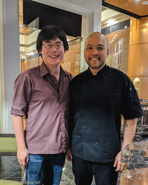 Travelling Foodie Raymond Cua with Executive Chef Victor Barangan of Eastwood Richmonde Hotel