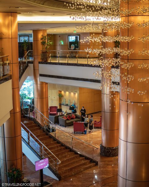 Lobby of Eastwood Richmonde Hotel in Quezon City, Manila, Philippines