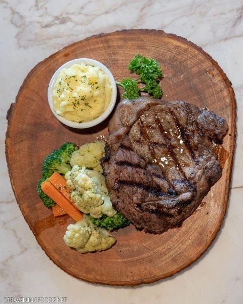 Rib eye steak at Eastwood Cafe Bar in Eastwood Richmonde Hotel, Manila, Philippines