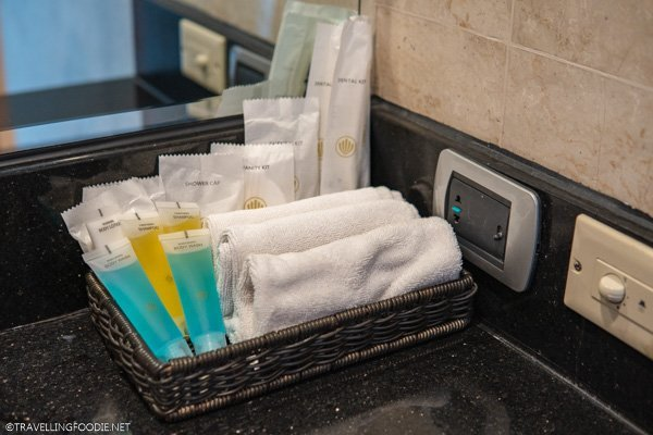 Toiletries at Eastwood Richmonde Hotel in Quezon City, Manila, Philippines