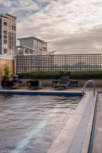 Rooftop Pool Area at Eastwood Richmonde Hotel in Quezon City, Manila, Philippines