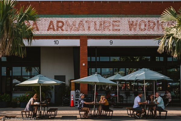 Armature Works Sign in Tampa Bay, Florida
