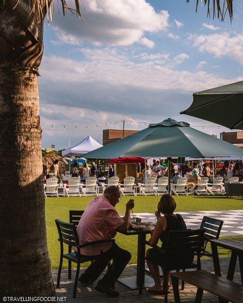 Outdoor dining and market at Armature Works in Tampa Bay, Florida