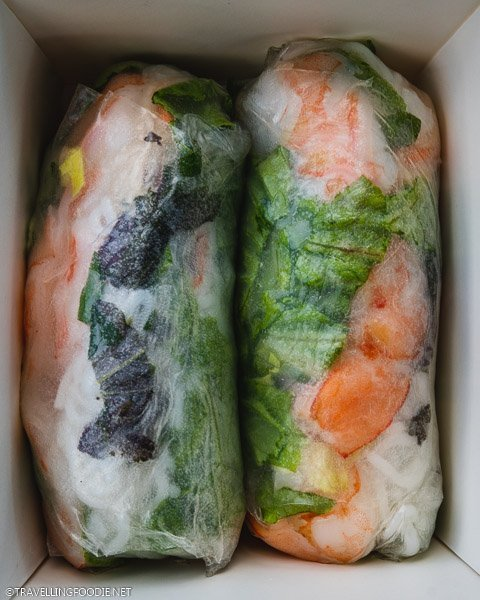 Fresh Shrimp Rolls from BT In A Box at Sparkman Wharf in Tampa Bay, Florida