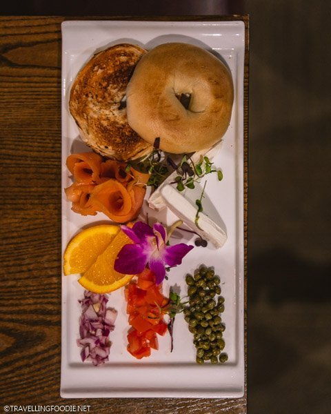 Bagel and Loxx at Bizou Brasserie in Tampa Bay, Florida