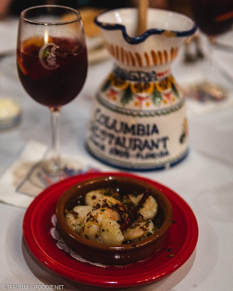 Gambas and Sangria at Columbia Restaurant in Ybor City, Tampa Bay, Florida