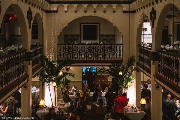 Two level interior of Columbia Restaurant in Ybor City, Tampa Bay, Florida