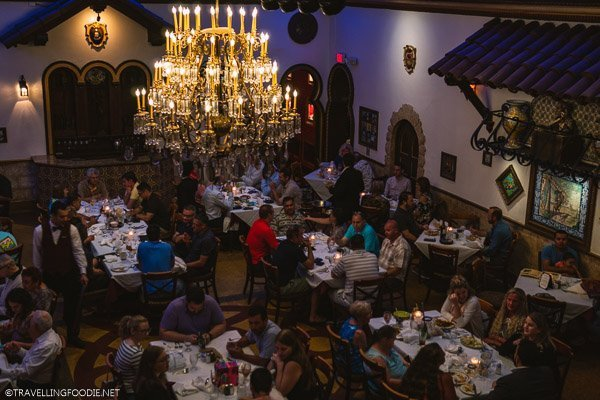 Spanish dining room at Columbia Restaurant in Ybor City, Tampa Bay, Florida