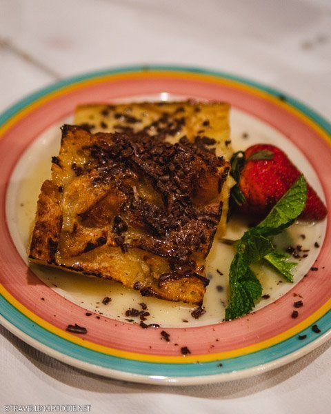 White Chocolate Bread Pudding at Columbia Restaurant in Ybor City, Tampa Bay, Florida