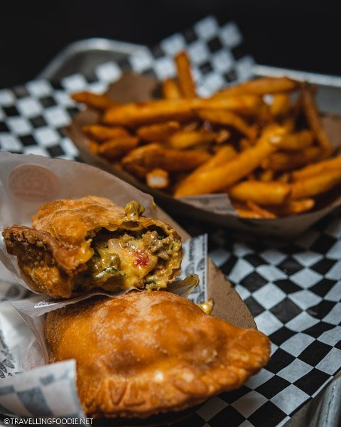 Cheeseburger Empanada from Empamamas in Armature Works in Tampa Bay, Florida