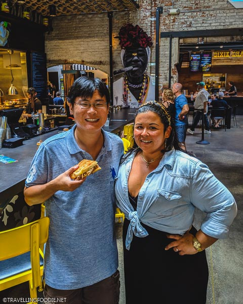 Travelling Foodie Raymond Cua with Hemingway's Chef+Owner Felicia Lacalle in Tampa Bay, Florida