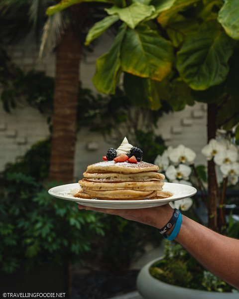 Buttermilk Pancakes at Conservatory in Oxford Exchange in Tampa Bay, Florida