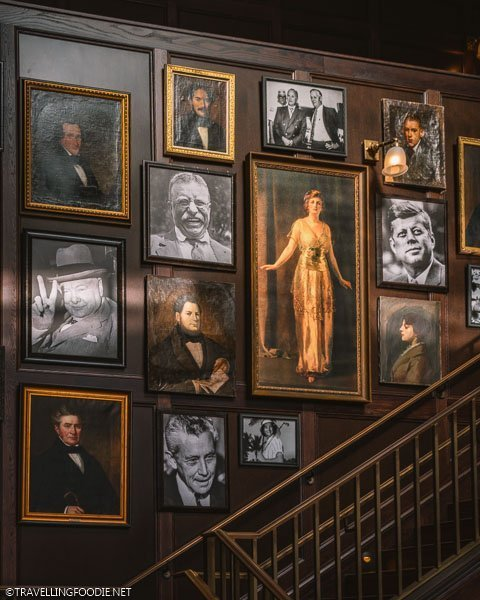 Portraits and Staircase at Oxford Exchange in Tampa Bay, Florida