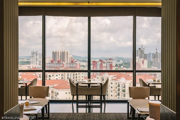 Panoramic Views from Crystal Club Lounge at Park Hotel Alexandra in Singapore