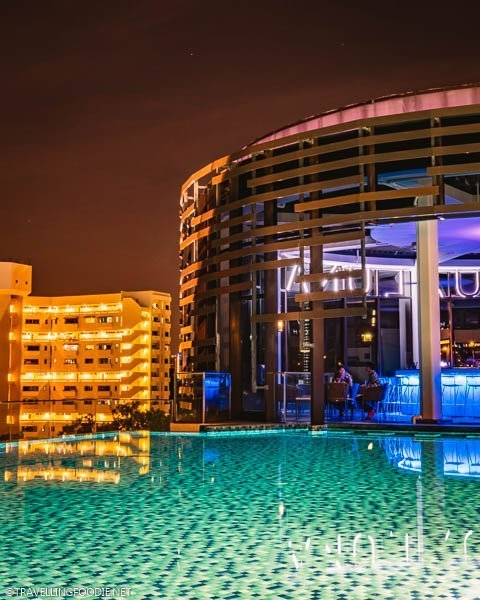 Aqua Luna at night at Park Hotel Alexandra in Singapore