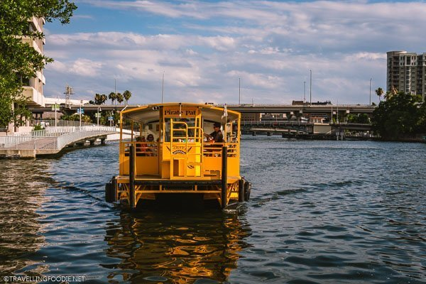 Pirate Water Taxi on Hillsborough River in Tampa Bay, Florida