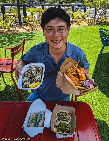 Travelling Foodie Raymond Cua enjoys various dishes at Sparkman Wharf
